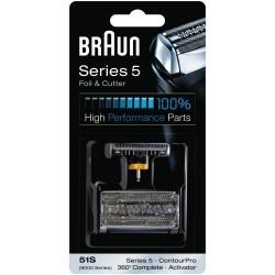 Braun partakoneen teräverkko (malleihin 51S KOMBIPACK KP8000, SERIES 5)