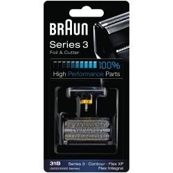 Braun partakoneen teräverkko + teräyksikkö Kombipack 31B
