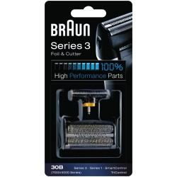 Braun partakoneen teräverkko (malleihin KOMBIPACK 30B, KP7000, SERIES 3 U.7000U.4000)