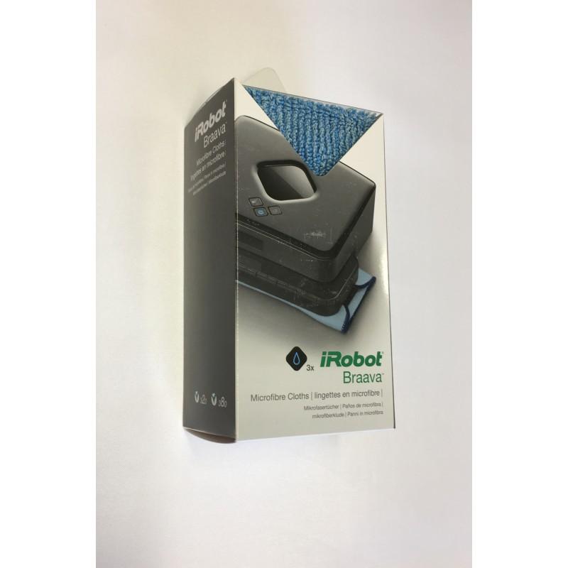 Mikrokuituliinat iRobot Braava 320, 380 Malleihin (3kpl)
