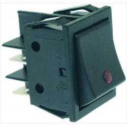 Kytkin 16A 250V, punainen LED merkkivalo