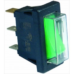 Switch 16A 230V, green