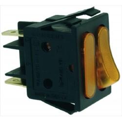 Kaksoiskytkin 16A 250V, oranssi merkkivalo