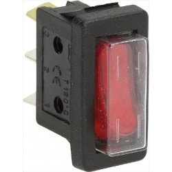 Switch 16A 250V, red