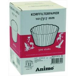 Suodatinpaperi ø 101/317 mm 500 KPL
