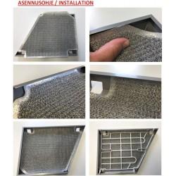 110731 Franke/Futurum Rasvasuodatin, metallinen (F400 sarja)