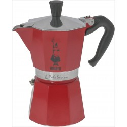 Bialetti Moka Express 6-cups, red