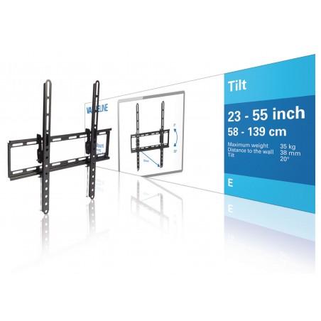 """TV Seinäteline Kallistettava 23 - 55 """" 35 kg"""
