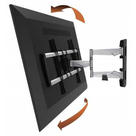 "TV Wall Mounting Fully Adjustable 42 - 70 ""35 kg Silver / Black"