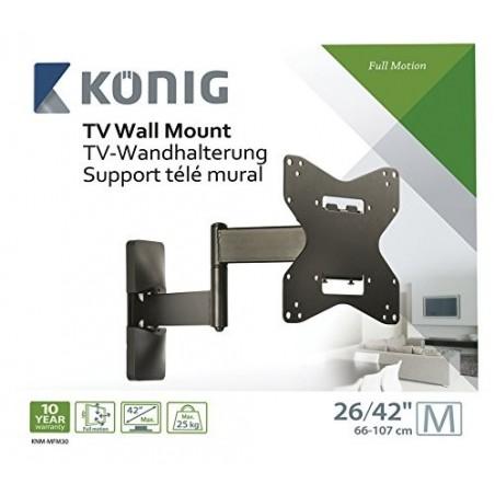 """TV Wall Mount Full Motion 26 - 42 """" 30 kg"""