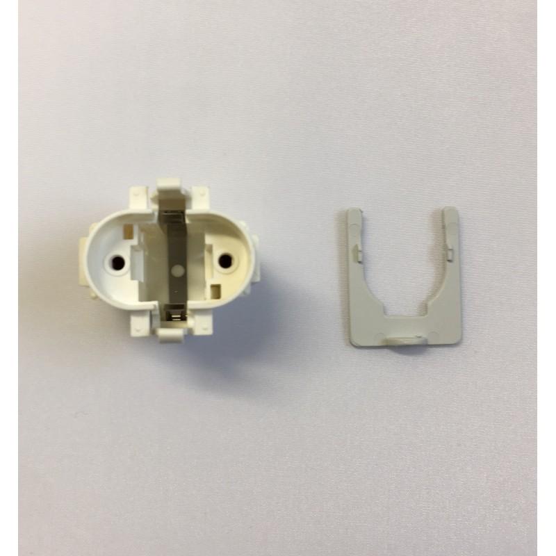 Fluorescent holder with locking fuse Franke