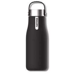 Philips Smart UV-C LED self-cleaning bottle, 0,35 l, matte black ( AWP2787BK/10)