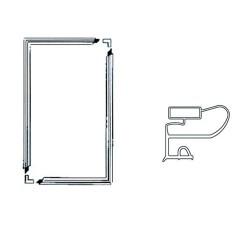 Jääkaapin/Pakastimen Oven tiiviste magneetilla (1300mm X 700mm)