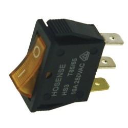 Pienlaitteen Virtakytkin On/Off + oranssi merkkivalo (11mm X 30mm)