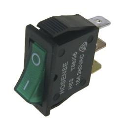 Pienlaitteen Virtakytkin On/Off + vihreä merkkivalo (11mm X 30mm)