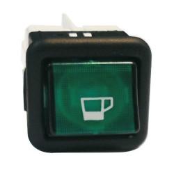 Pienlaitteen Virtakytkin On/Off + vihreä merkkivalo (25mm X 25mm)