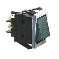 Pienlaitteen Virtakytkin On/Off + vihreä merkkivalo (22mm X 30mm)