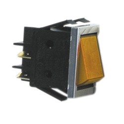 Pienlaitteen Virtakytkin On/Off + oranssi merkkivalo (22mm X 30mm)