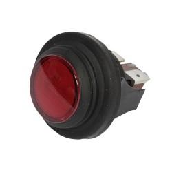 Pienlaitteen Pyöreä Virtakytkin On/Off + punainen merkkivalo (25mm)