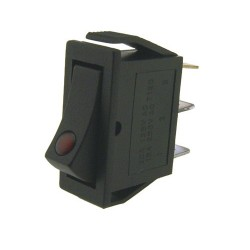On/Off Switch + red LED (11mm X 30mm)