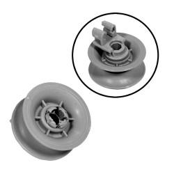 Basket Wheel kit for dishwasher (BOSCH SIEMENS 611666)